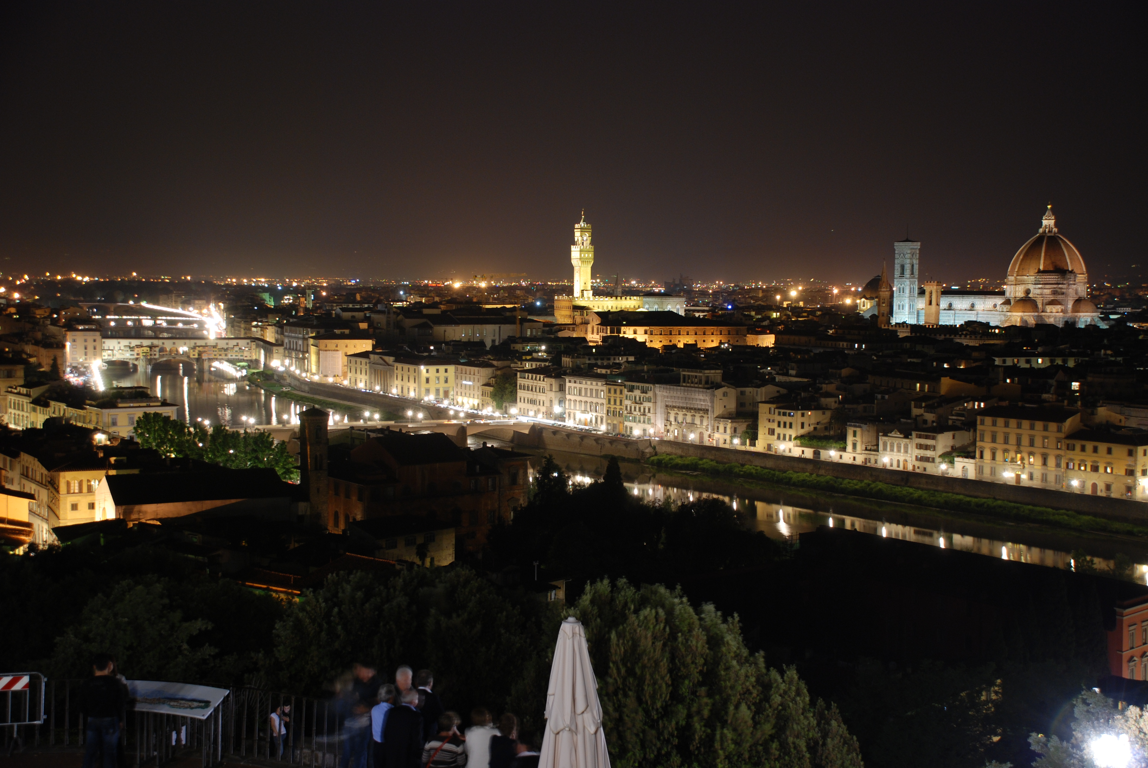 City Of Florence: That Beautiful Renaissance Glow. Florence At Night