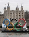 Olympic rings Thames