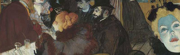 Henri de Toulouse-Lautrec. At the Moulin Rouge. Oil on canvas. 1892