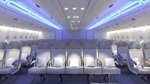 The proposed 3-5-3 configuration in the A380 airbus.